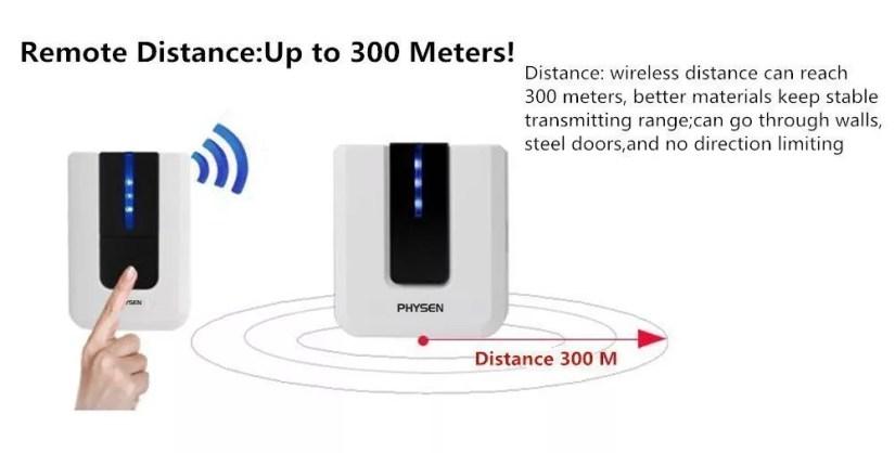 Physen Europe Style Piano Wireless Doorbell kit