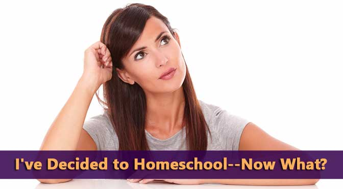Woman wondering decided to homeschool now what
