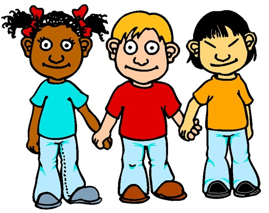 Illustration of a group of friends of homeschooled children