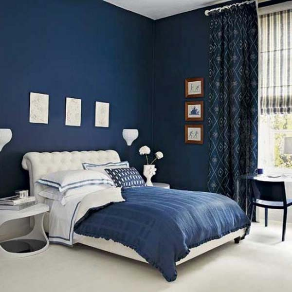 Navy Blue Bedroom Walls Large And Beautiful Photos Photo To Select Navy Blue Bedroom Walls Design Your Home