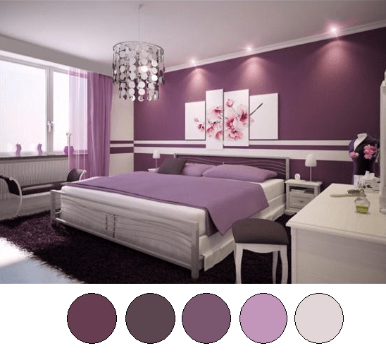Marvelous Purple Bedroom Color Schemes Large And Beautiful Photos Photo Part 29