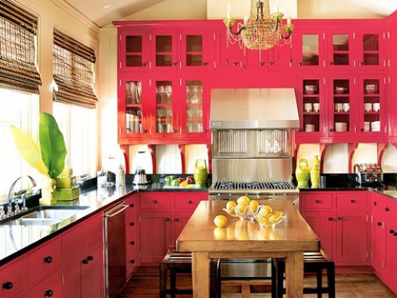27 Thiết kế nhà bếp màu đỏ hoàn toàn tuyệt vời-18