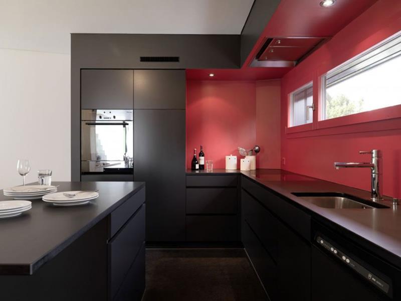 27 Thiết kế nhà bếp màu đỏ hoàn toàn tuyệt vời-20