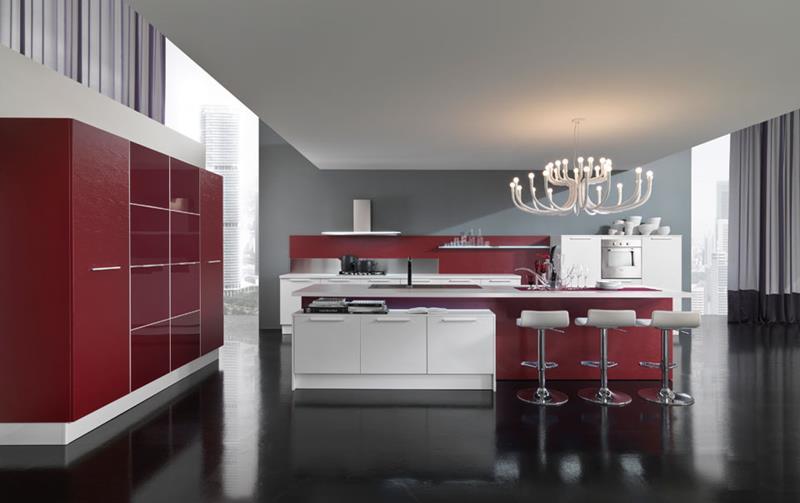 27 Thiết kế nhà bếp màu đỏ hoàn toàn tuyệt vời-25