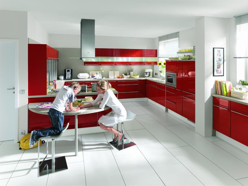 27 Thiết kế nhà bếp màu đỏ hoàn toàn tuyệt vời-5