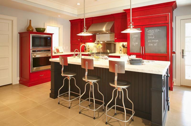 27 Thiết kế nhà bếp màu đỏ hoàn toàn tuyệt vời-7