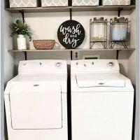 63 Smart Farmhouse Laundry Room Storage Organization Ideas 17