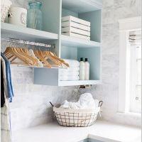 63 Smart Farmhouse Laundry Room Storage Organization Ideas 2