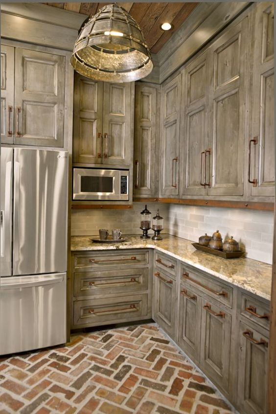 Rustic Kitchen Cabinet Pictures