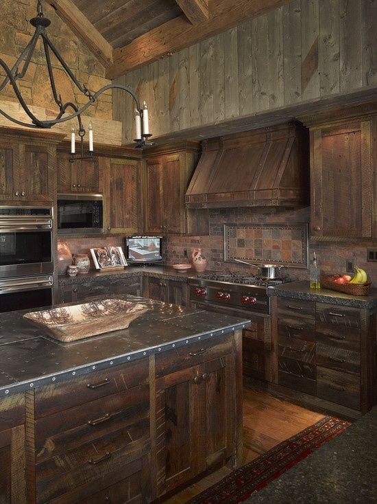 Rustic Kitchen Without Cabinets