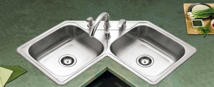 Beautiful Corner Kitchen Sink 0013