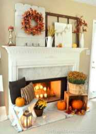 DIY Fall Living Room Decoration With Fireplace Ideas0014
