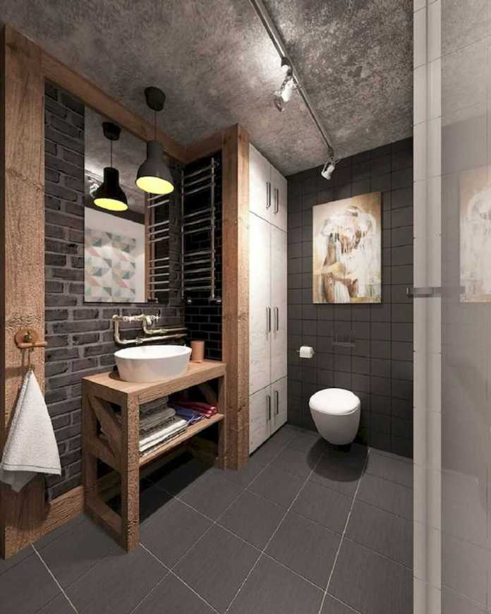 Fashionable Industrial Toilet Decor – Source: home-designing.com
