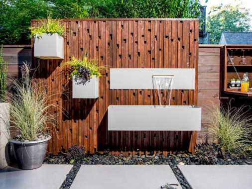 Fence With Planters And Waterfalls