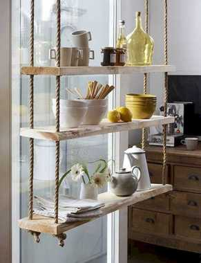 Kitchen With Floating Shelves