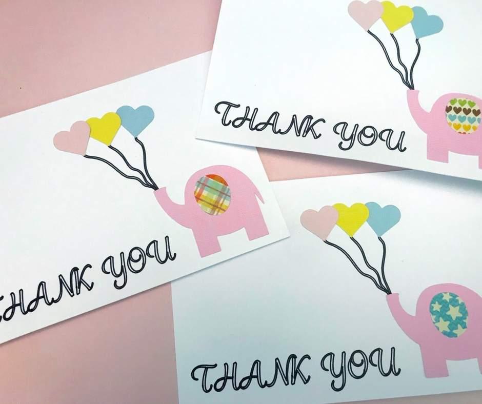 Download Elephant DIY Thank You Cards - Home Faith Family