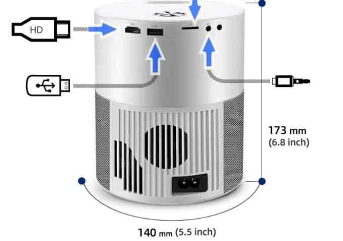 AUN ET40 Projector feature