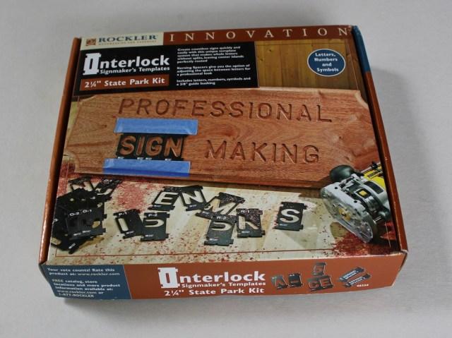 Rockler Interlock Signmaker S Templates