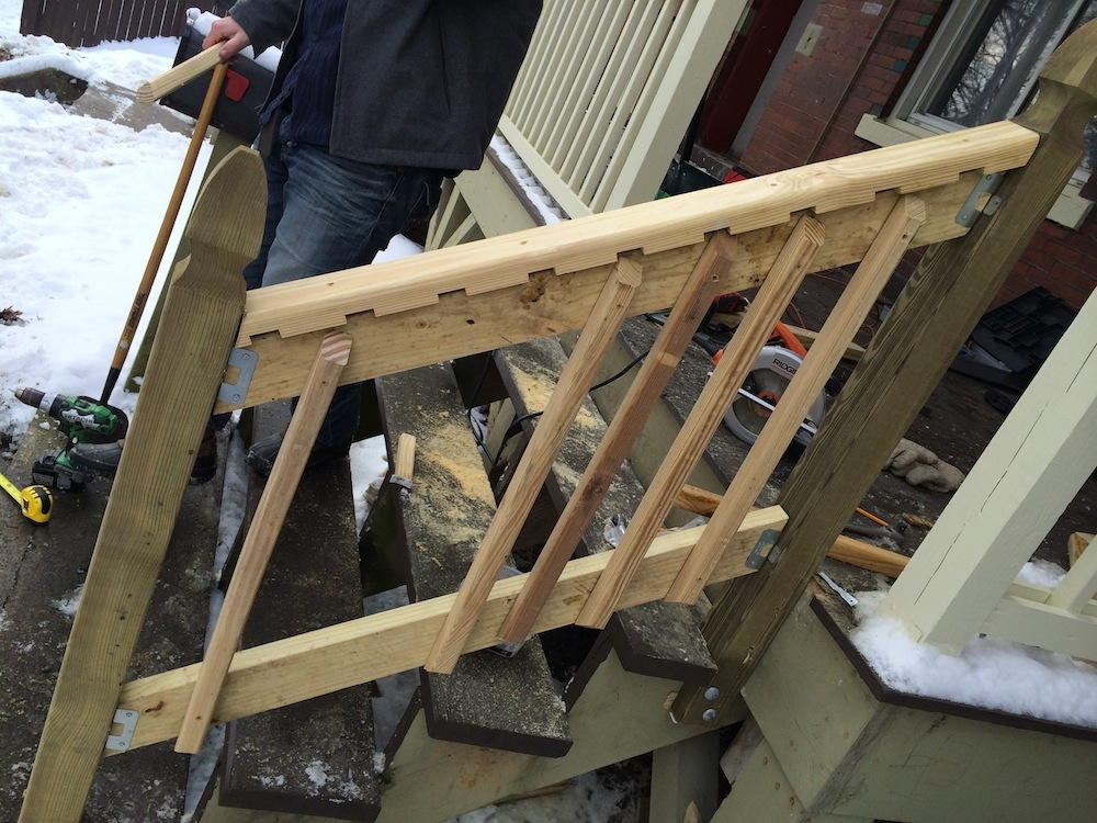 How To Build A Handrail For Your Porch Safer Stairs In 3 Hours   Handrails For Porch Steps   Deck   Simple   Railing   Temporary   Interior