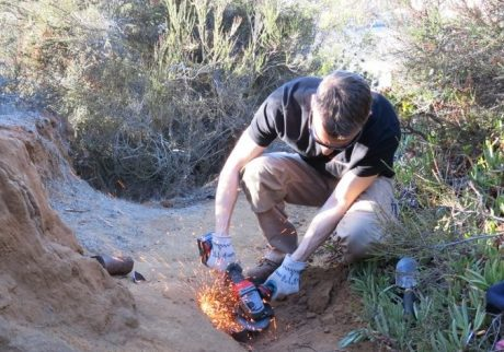 Sparks were flying - maybe a few more than I anticipated in the dry brush - don't try this at home