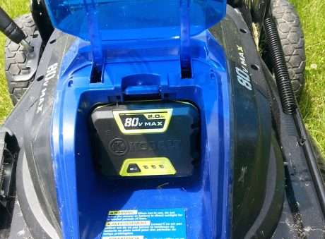 """The 80 Volt """"power brick"""" is easy to change."""