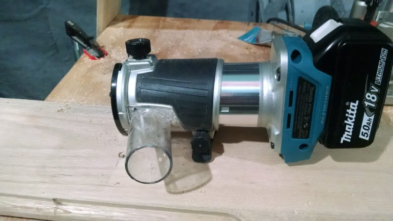 cordless one-handed trim router