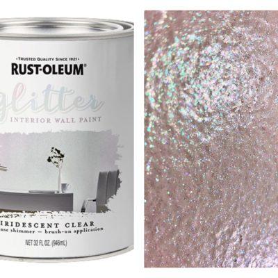 Rust-Oleum Interior Glitter Paint has Dazzling Possibilities