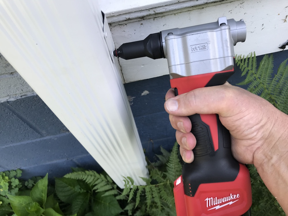 add a downspout