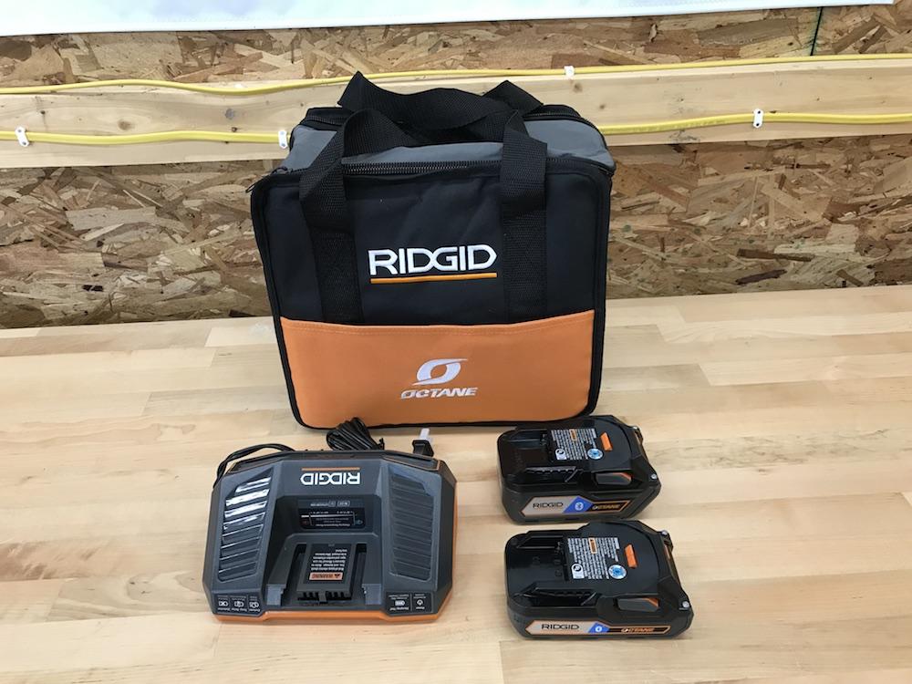 ridgid octane battery starter kit