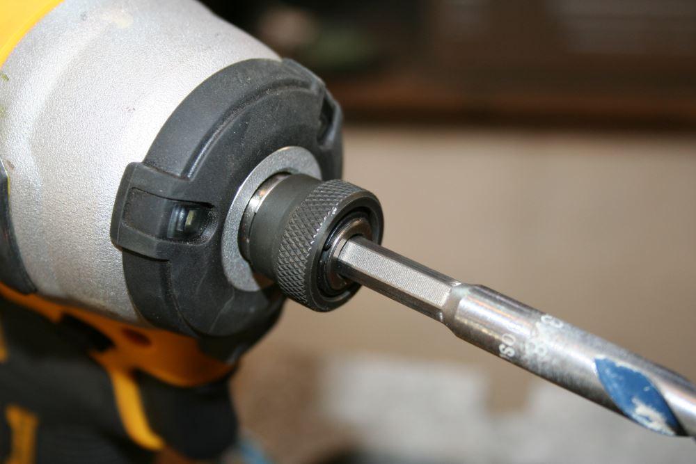 bosch blue granite turbo bits in an impact driver