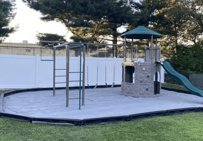 weed barrier for rubber mulch playground