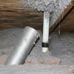The plumber had the vent hooked up in no time!