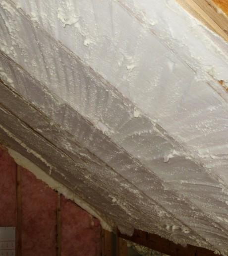 Spray foam insulation stops air leaks in their tracks
