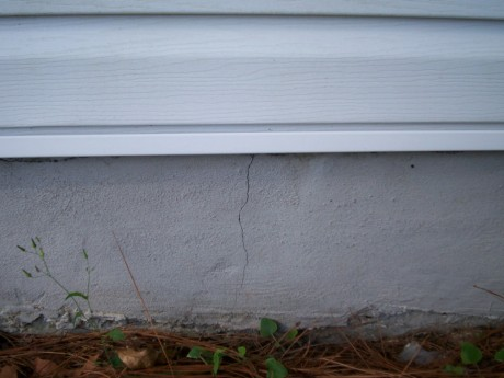 Cracks in the foundation should at the very least be sealed before ice can make them bigger