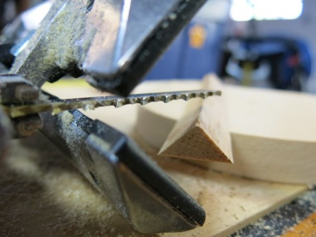 The bevel shoe can help your Carvex sub in for your table saw in a pinch
