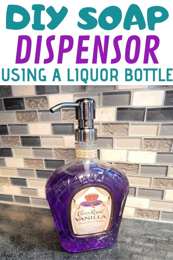 Homemade Soap Dispenser With Alcohol Bottle