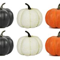 "Set of 6 Halloween Decorative Pumpkins! 4.25"" Pumpkins Perfect for Halloween Parties, Decor and More! (6)"