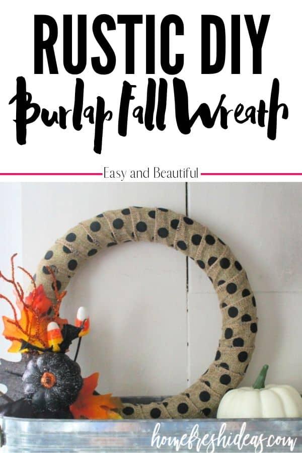 Burlap Wreath - Pin Image