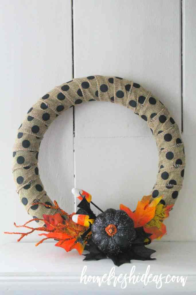 wreath sitting on mantle