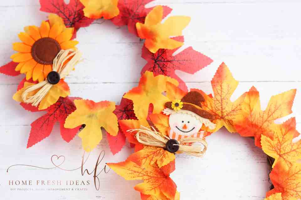 Adorable Sweet Scarecrow Wreath For Fall Home Fresh Ideas
