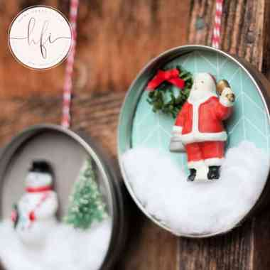 christmas ornament with santa