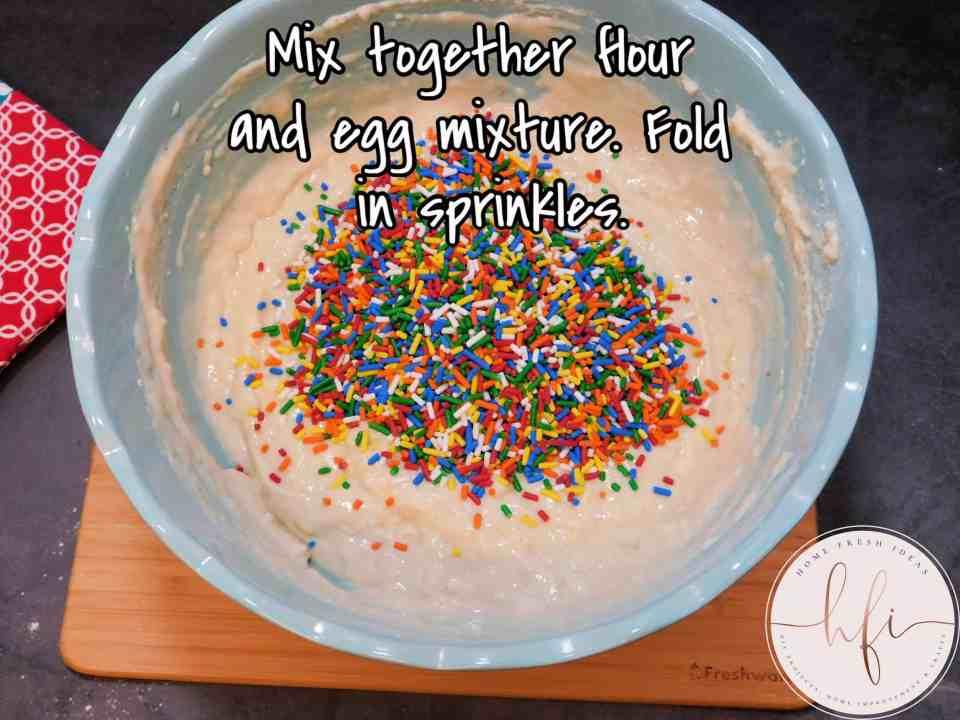 sprinkles added to pancake batter