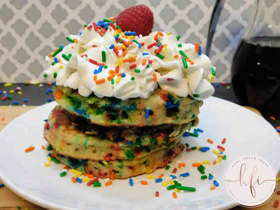 stack of pancakes ready to eat