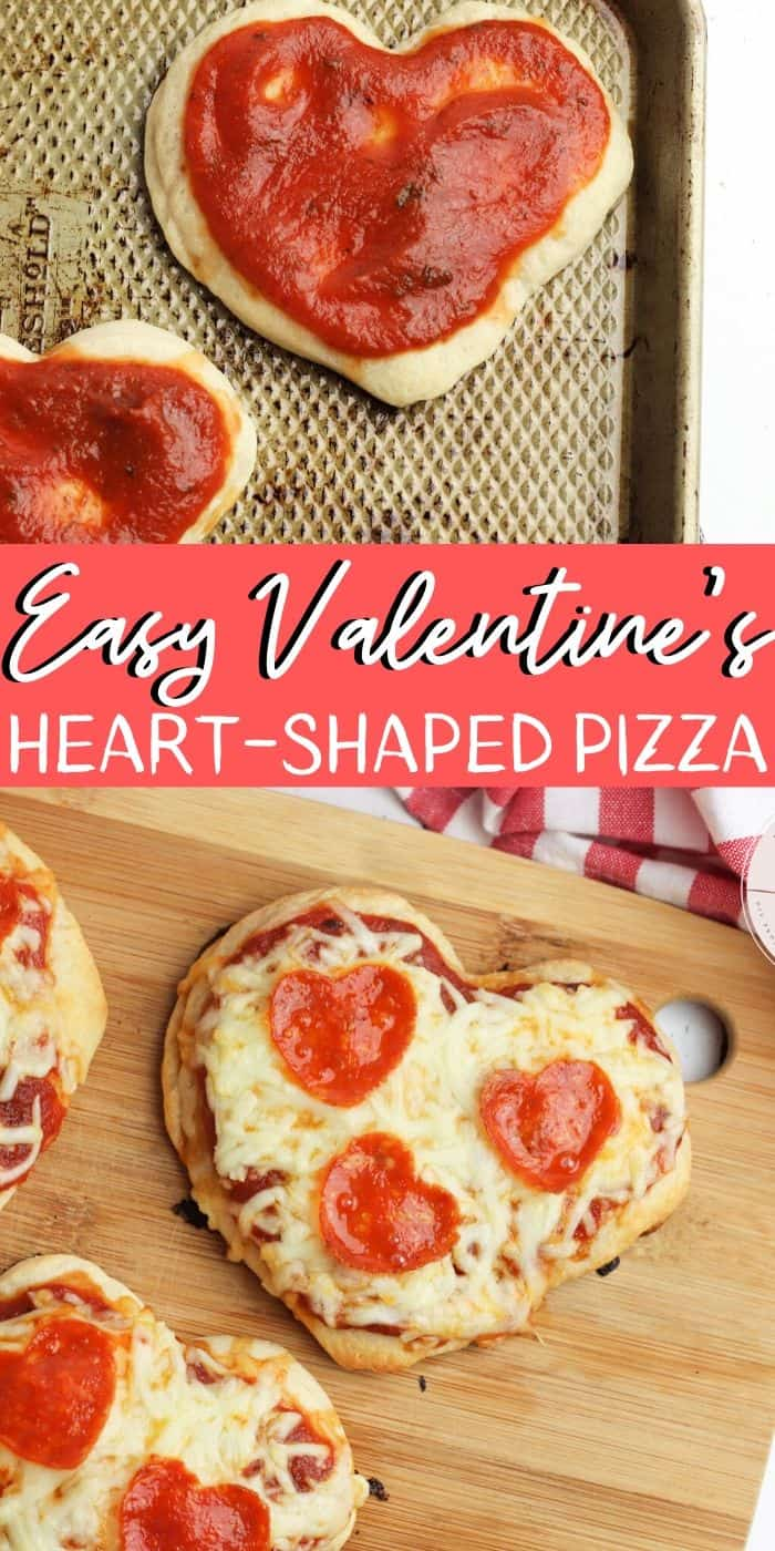 Heart-Shaped Pizza - PIN Image