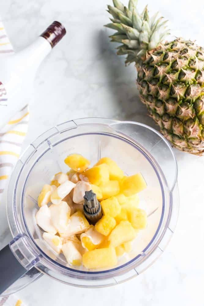 Slushy pineapple rum drink - This Slushy Pineapple Rum Drink Recipe is so easy and is sure to be the life of the party. The flavor is tropical and delicious! #frozen #cocktail #rum #malibu #pineapple #tropical #easy #homefreshideas