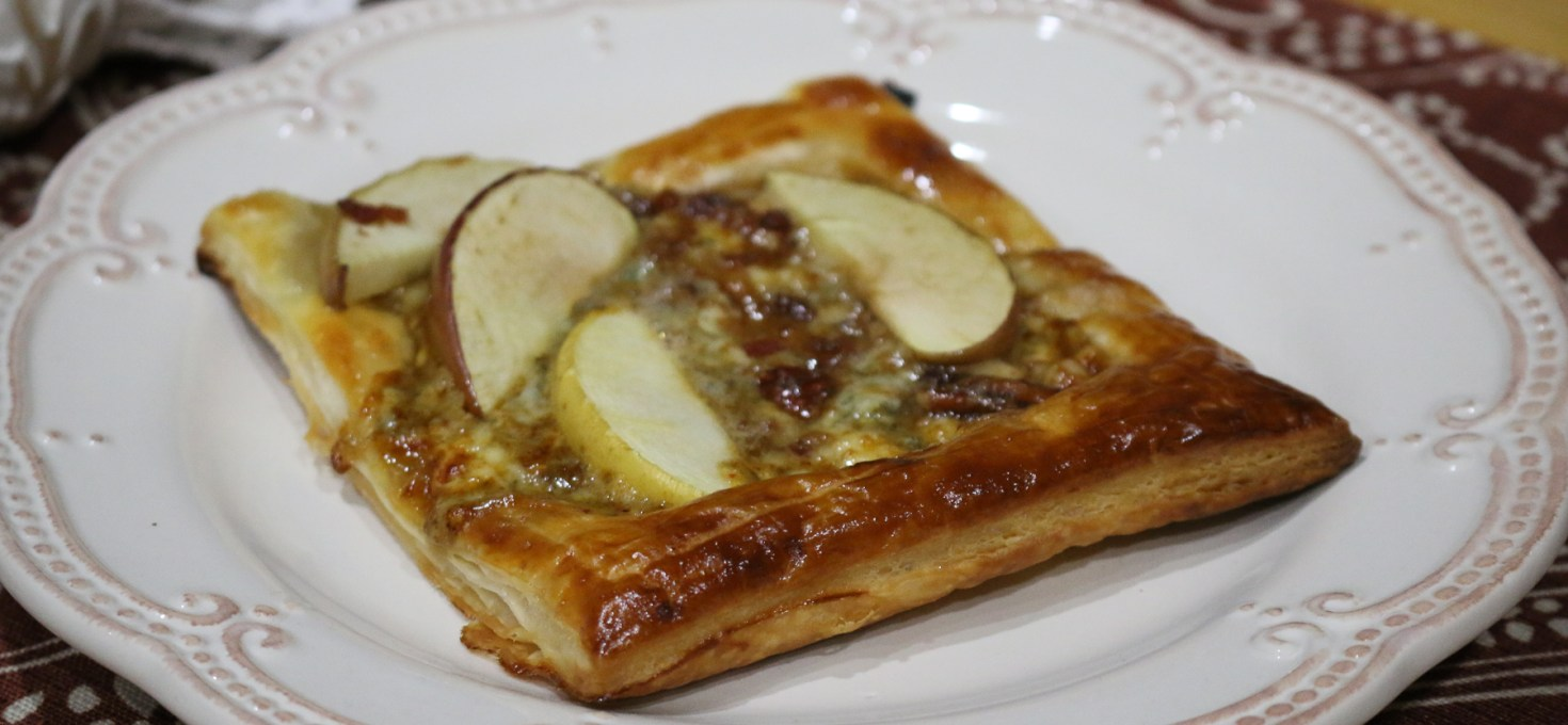 Apple Tartlets with Maple + Gorgonzola