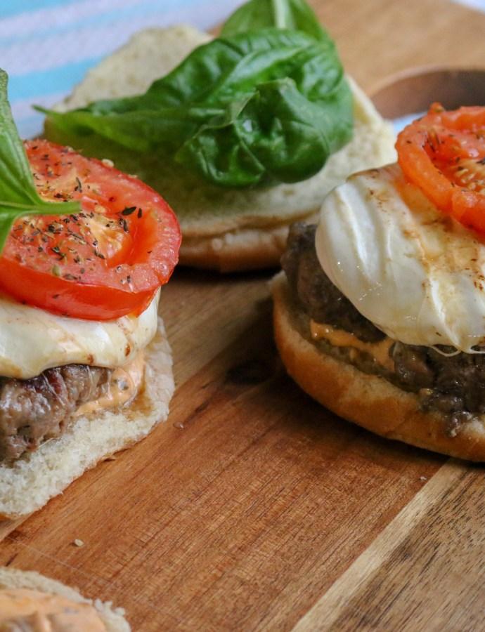 Balsamic Caprese Burgers