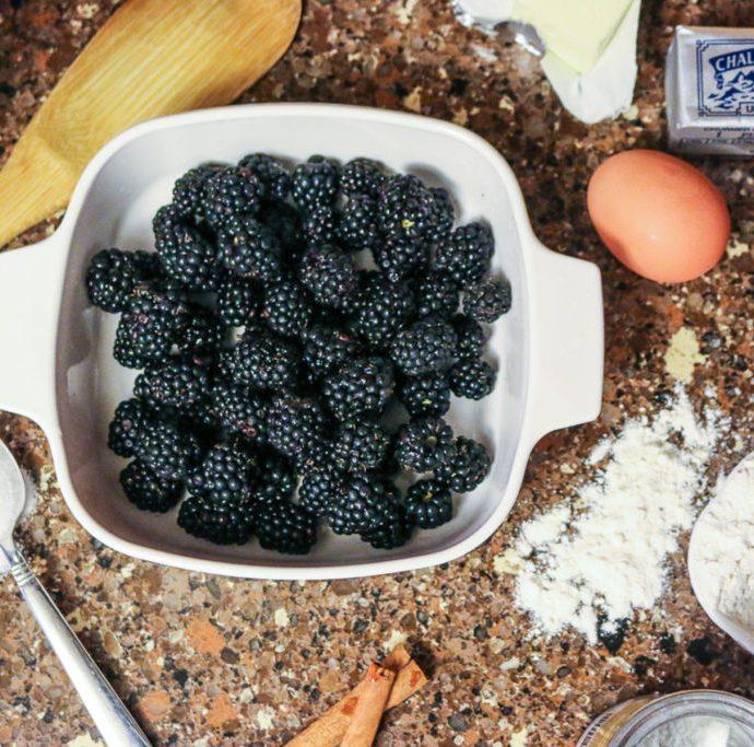 Warm Berry Buckle + Ice Cream