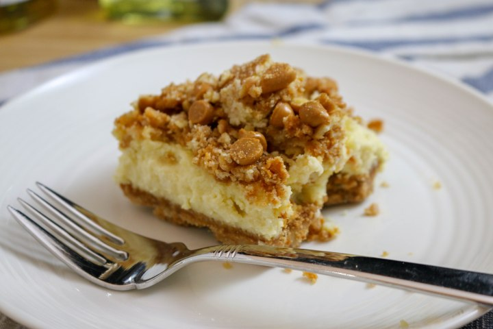 Butterscotch Maple Cheesecake Bars