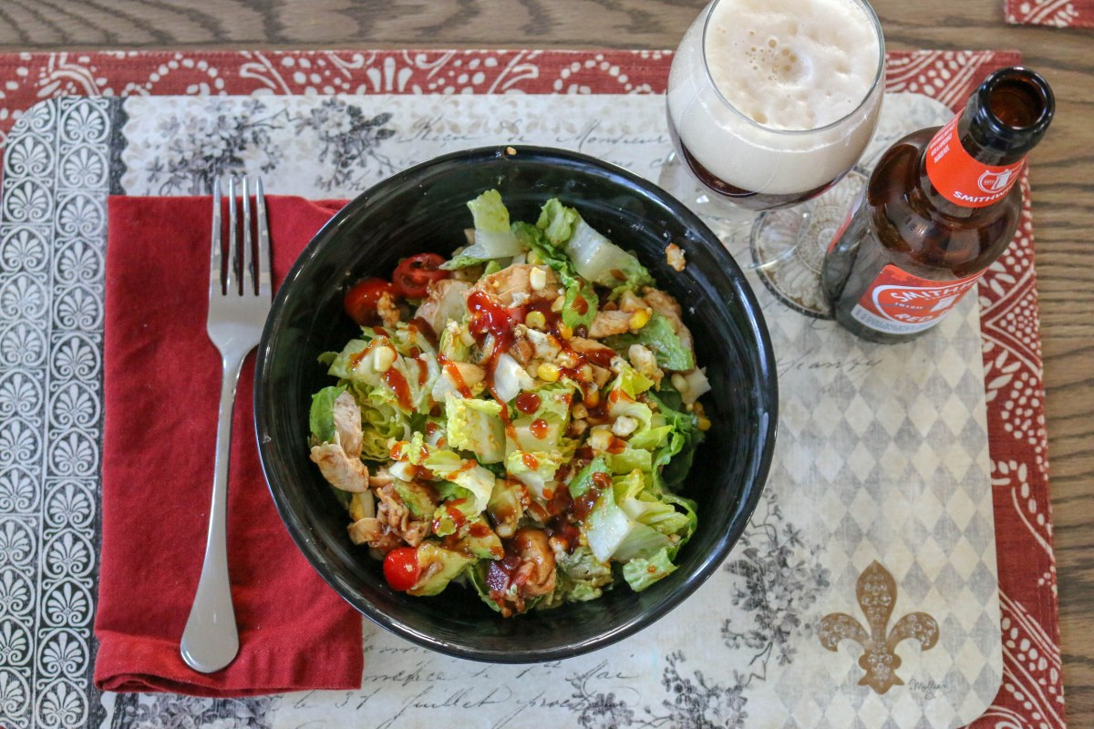 barbecue chicken summer chopped salad